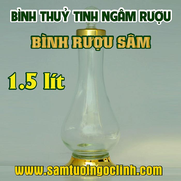 Bình Thủy Tinh Rượu Sâm 1.5 lít Kiểu Dáng Đẹp