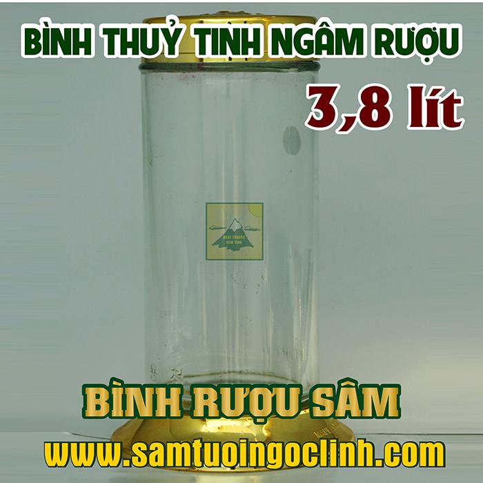 Bình Thủy Tinh Rượu Sâm 3.8 lít Kiểu Dáng Đẹp