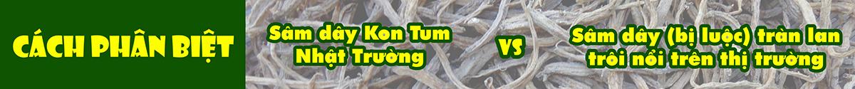 cách phân biệt sâm dây kon tum nhật trường với sâm dây bị luộc tràn lan trôi nổi trên thị trường