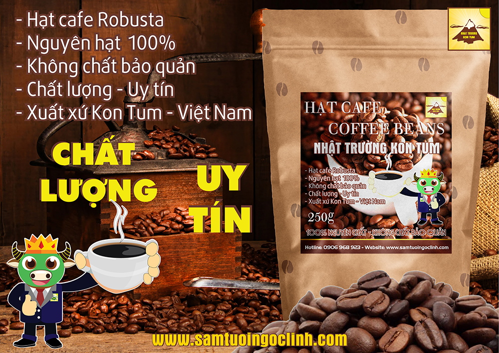 hat cafe robusta nguyen chat kon tum 2