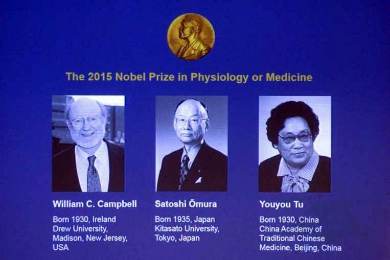 Danh sách ba nhà khoa học đoạt giải Nobel Y Học 2015